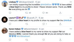 Tweets with #NHSBlueHeart